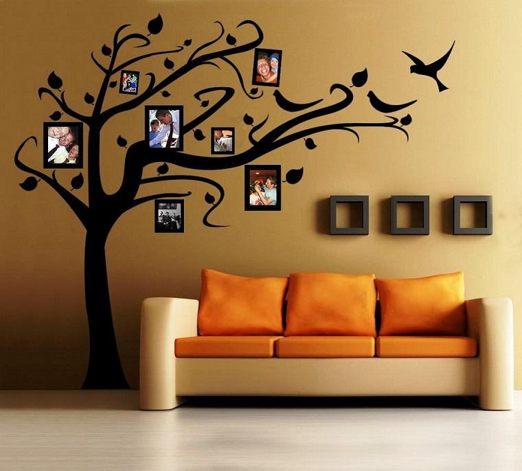 stencil per pareti albero foto
