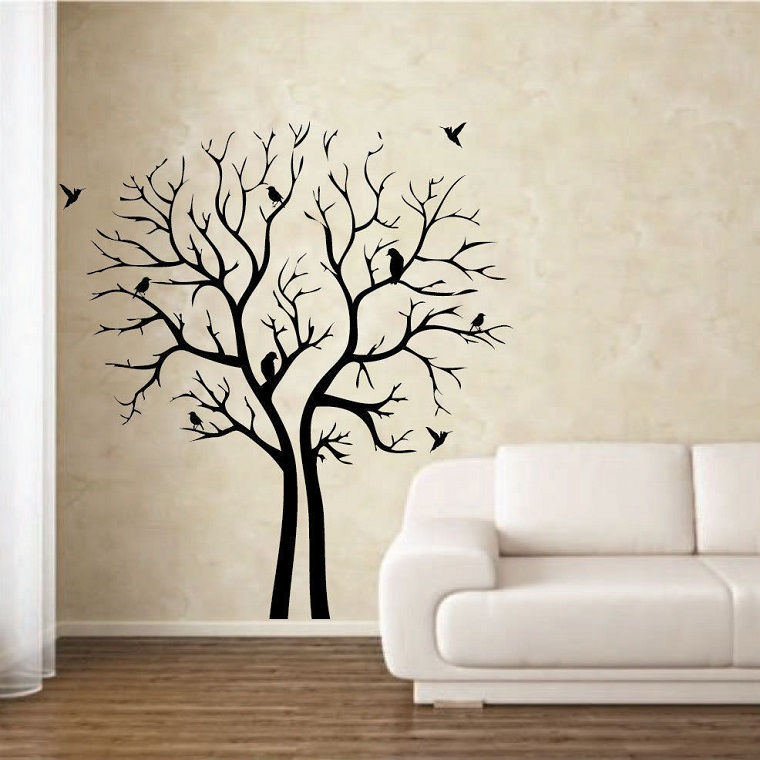 stencil per pareti albero stilizzato
