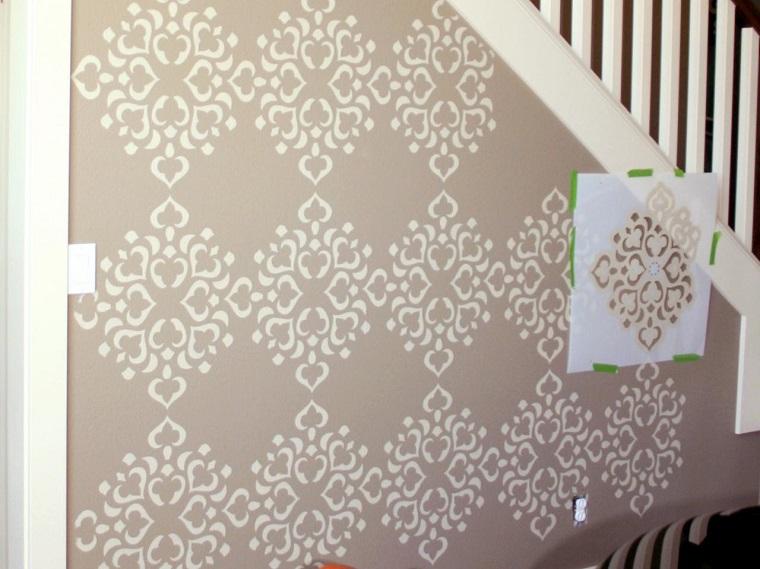 stencil per pareti decorazione sottoscala