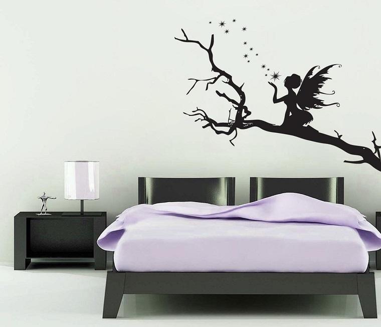 stencil per pareti fata albero