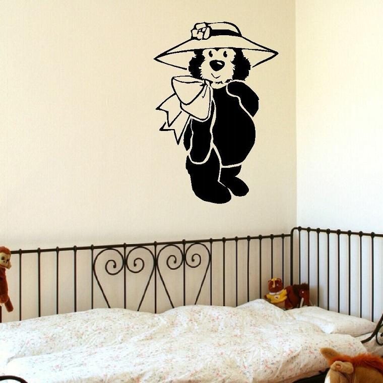 stencil per pareti forma orsetto