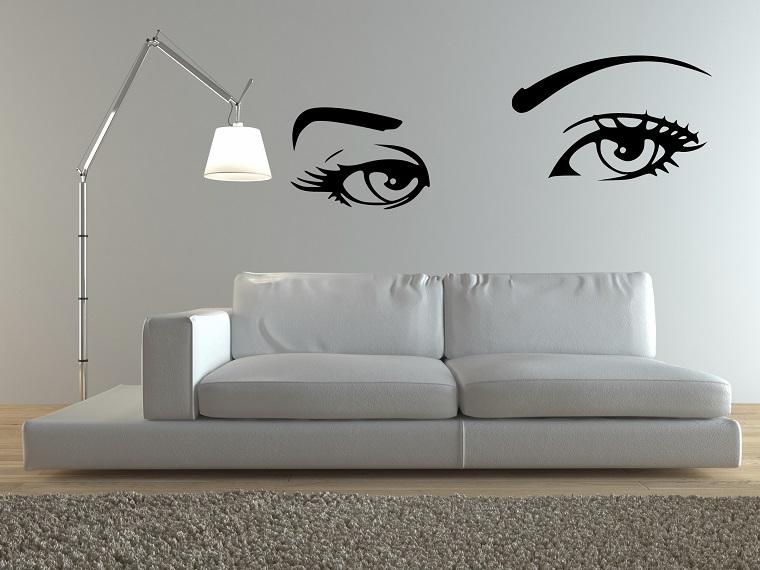 stencil per pareti idea occhi donna