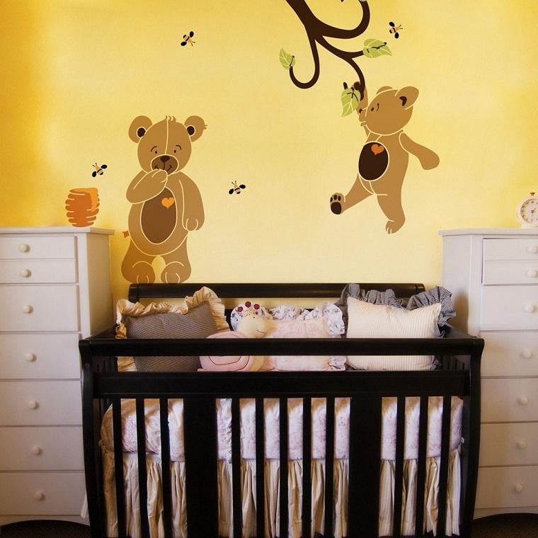 stencil per pareti orsetti