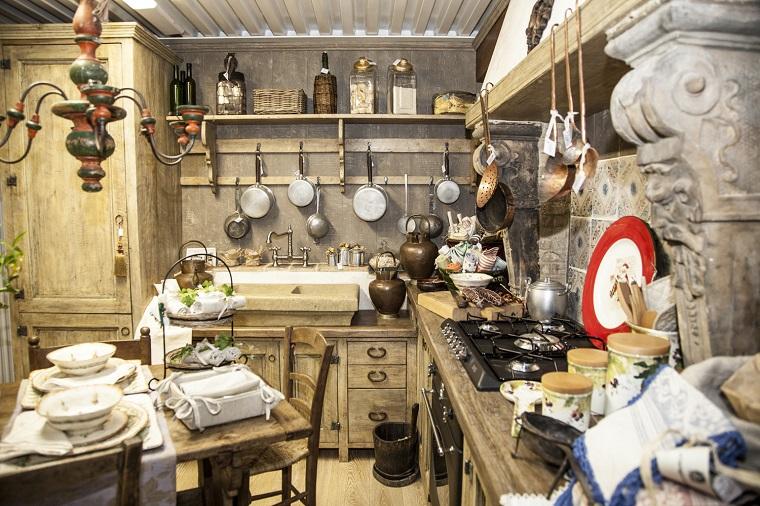 Arredamento country voglia di campagna in tutta la casa - Arredo cucina rustica ...