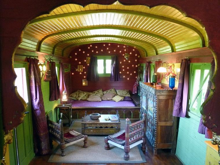 stile hippie idea originale camera letto