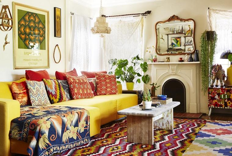 stile hippie proposta soggiorno lungo stretto