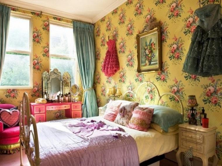 stile hippie versione chic camera letto