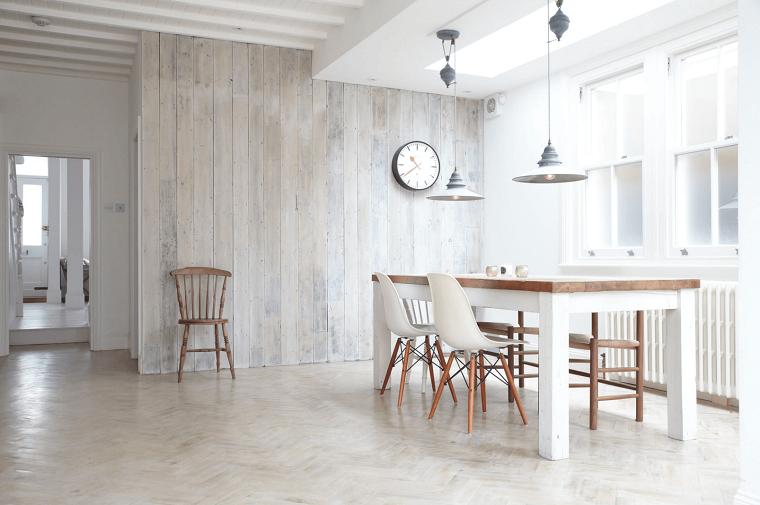 stile minimal idea arredare zona living lampadari design