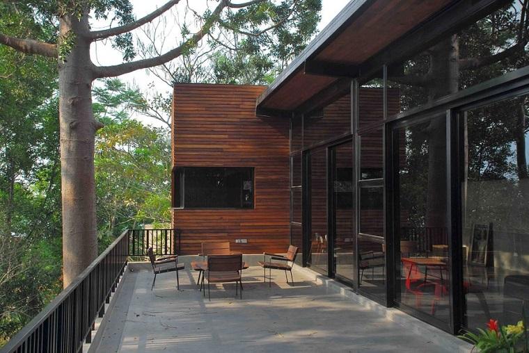 stile moderno arredo esterno casa design