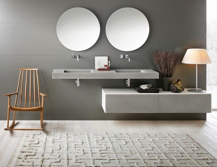 stile moderno mobili bagno color perla