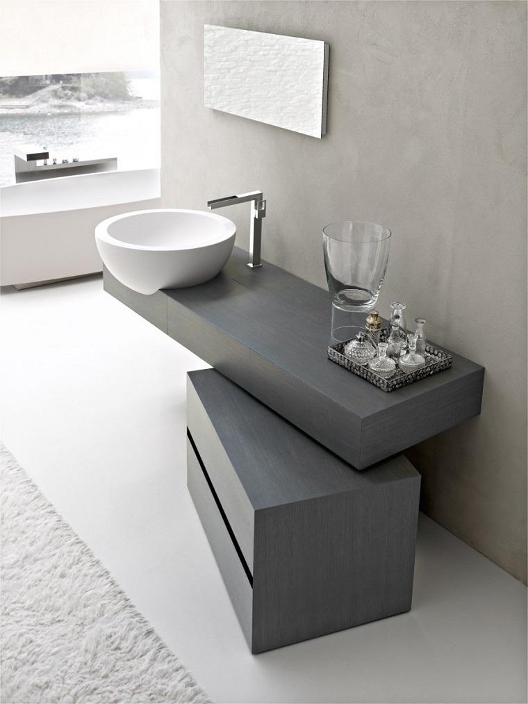 stile moderno vanity bagno originale