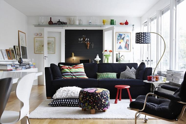 stile nordico soggiorni elementi colore