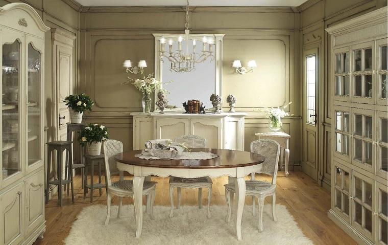 stile provenzale-area-pranzo-tavolo-tondo
