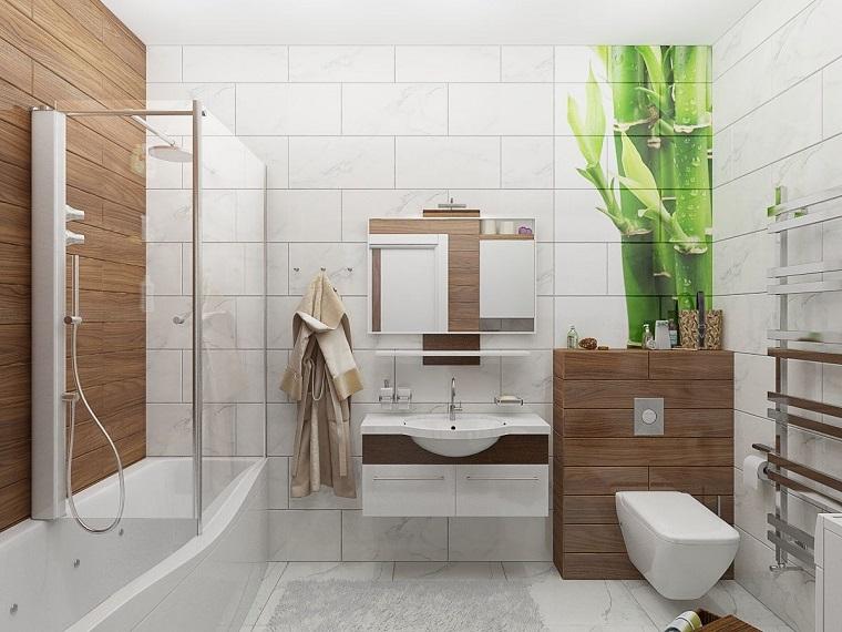 suggerimento decorare pareti stile mobili legno