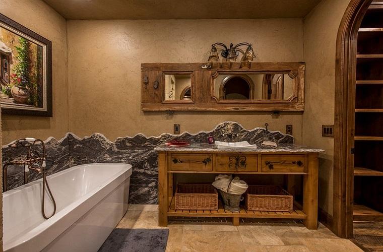 Bagno rustico il sapore autentico della pietra e il legno