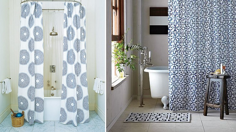 Tende per bagno 24 idee originali fra il classico e il - Tende vasca da bagno ...