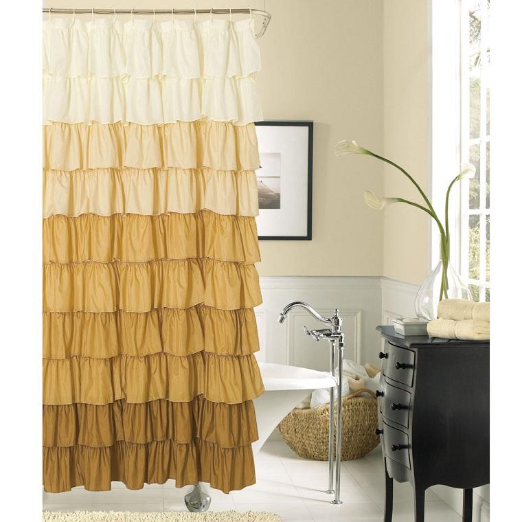 Tende per bagno 24 idee originali fra il classico e il - Tende classiche per bagno ...