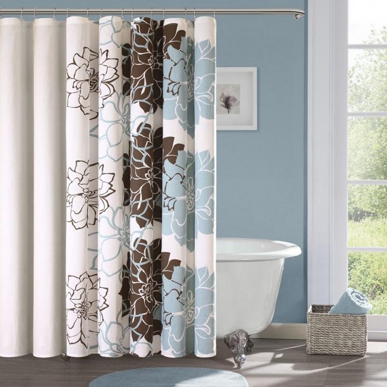Tende per bagno 24 idee originali fra il classico e il moderno - Tende a vetro per bagno ...