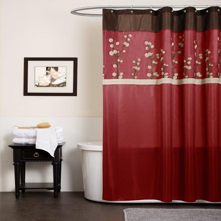 Tende per bagno 24 idee originali fra il classico e il moderno - Decorazioni per il bagno ...
