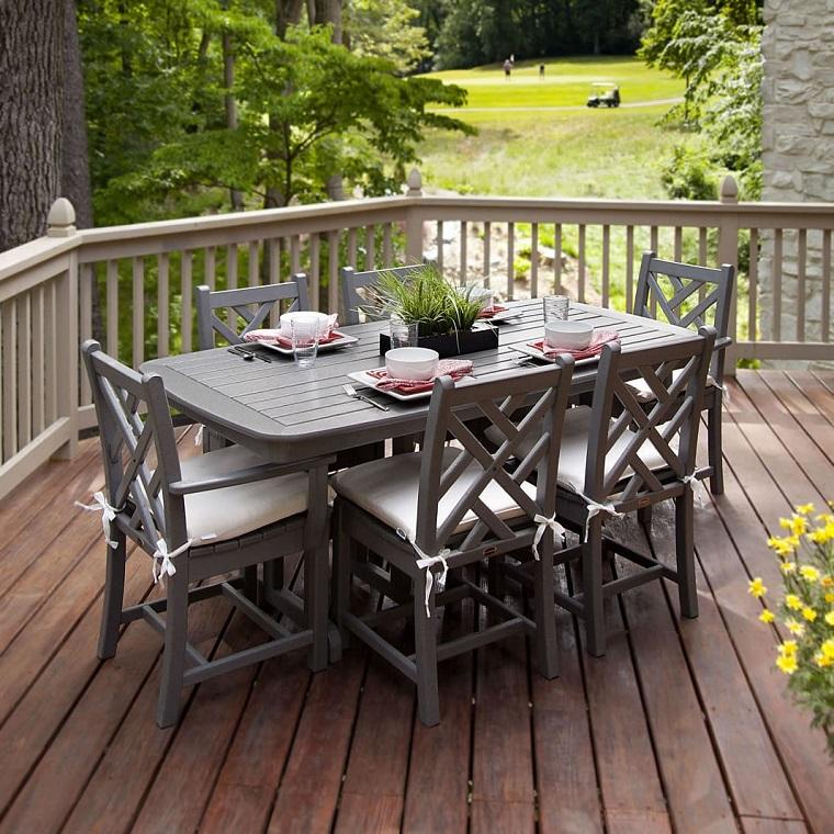terrazzi e balconi idea tavolo pranzo