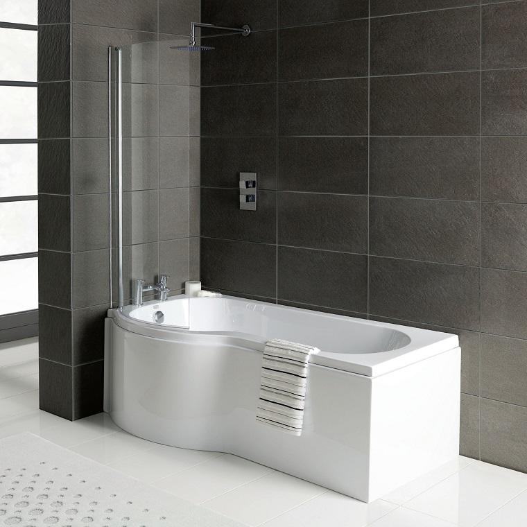 vasca con doccia parte rotonda
