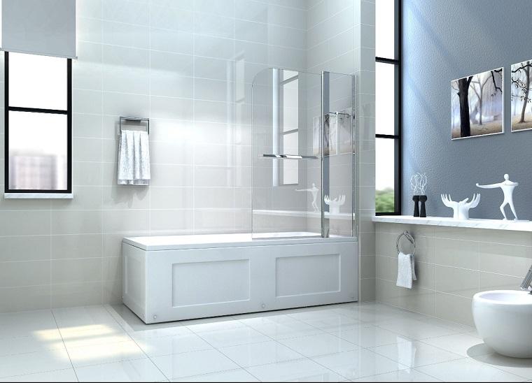 vasca con doccia soluzione moderna