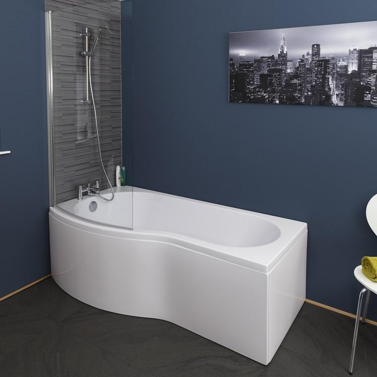 vasca da bagno con doccia design morbido