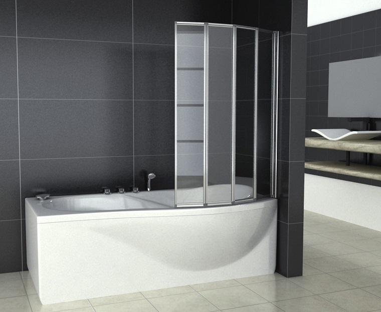 vasca da bagno con doccia parte finale tonda
