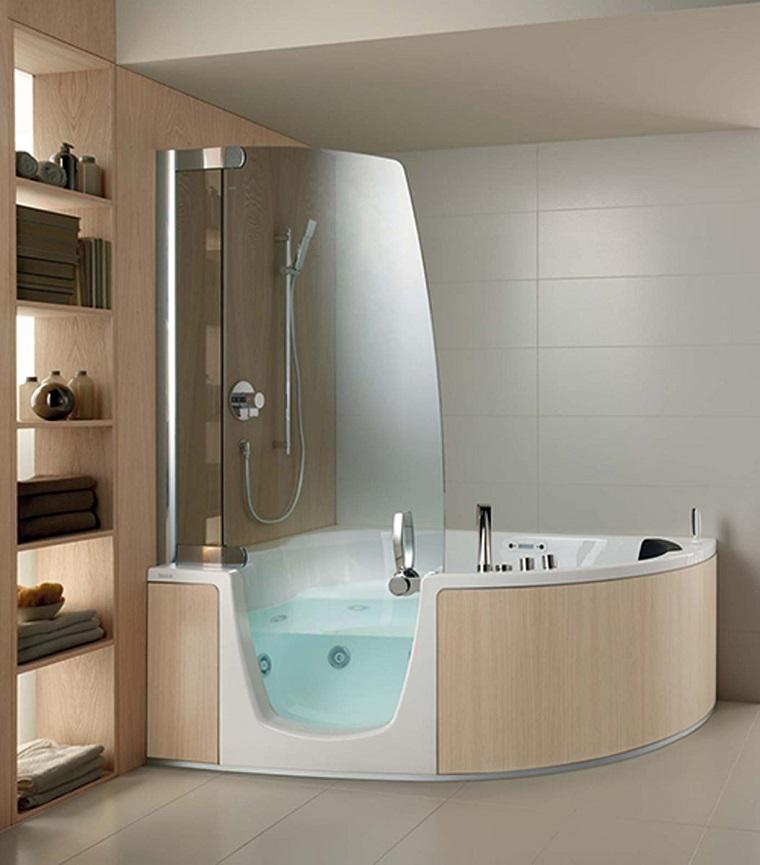 vasca da bagno con doccia proposta sofisticata