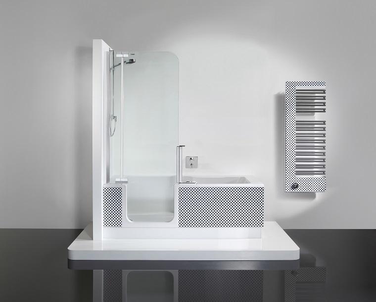 vasche da bagno con doccia proposta elegante
