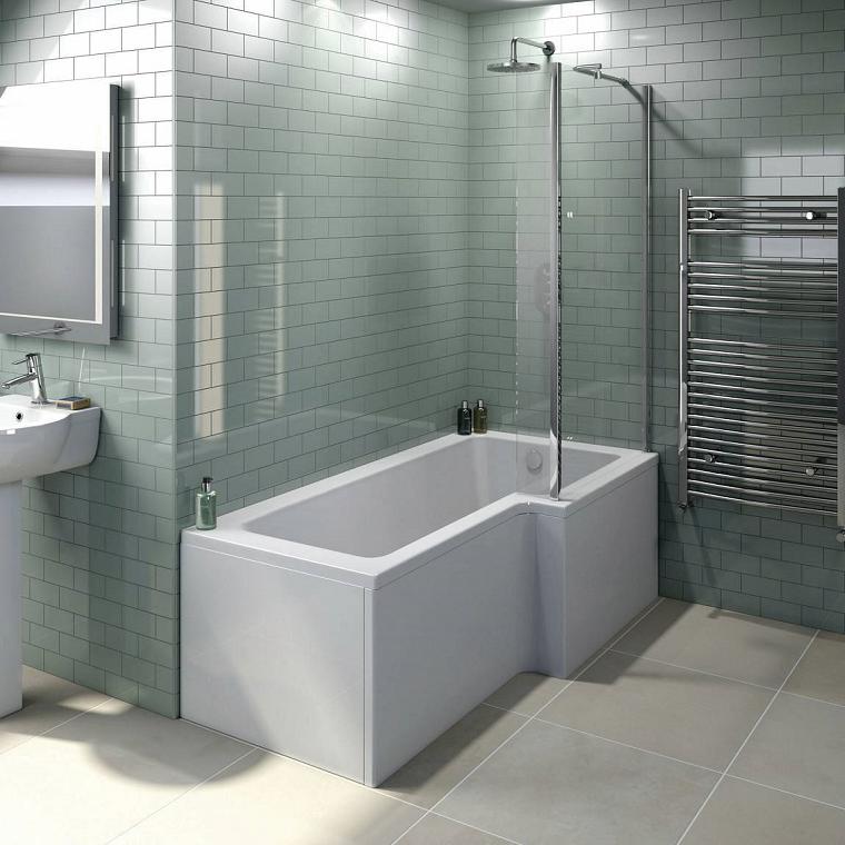 vasche da bagno con doccia proposta squadrata