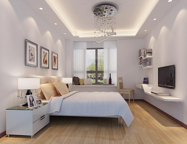 zona notte semplice moderna pavimento legno