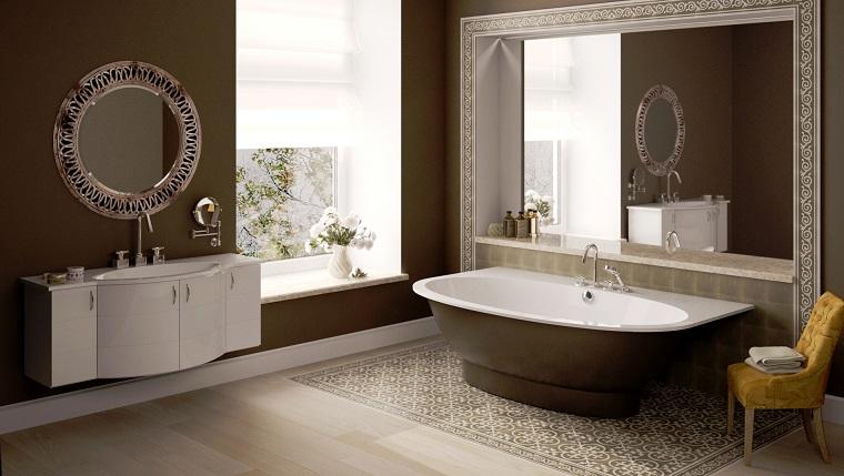 arredamento-classico-moderno-pareti-marroni