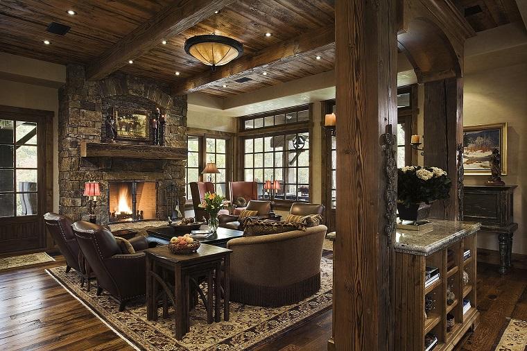 arredamento-soggiorno-stile-rustico-mobili-legno-decorazioni