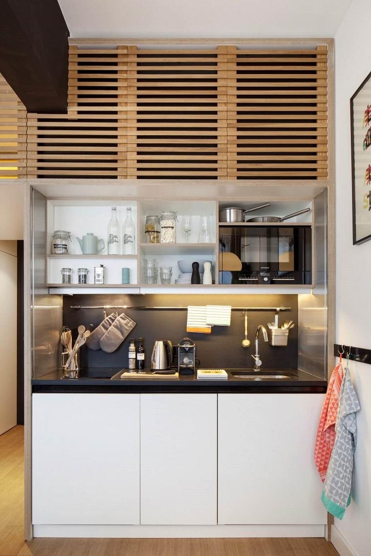 Mobili Per Cucinino Piccolo angolo cottura: tutto il necessario anche in uno spazio