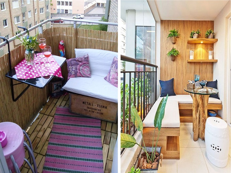 Arredare balcone piccolo tante idee e composizioni for Arredamento per terrazzo piccolo