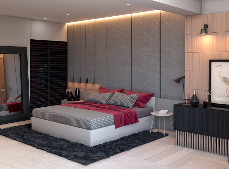 Camera da letto grigia: ideale per chi ama lo stile moderno ...