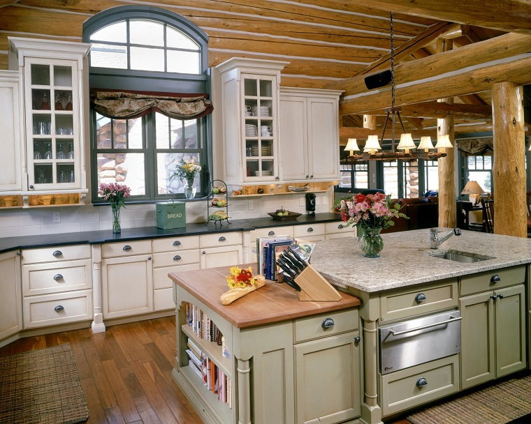 arredare-casa-in-montagna-cucina-ampia
