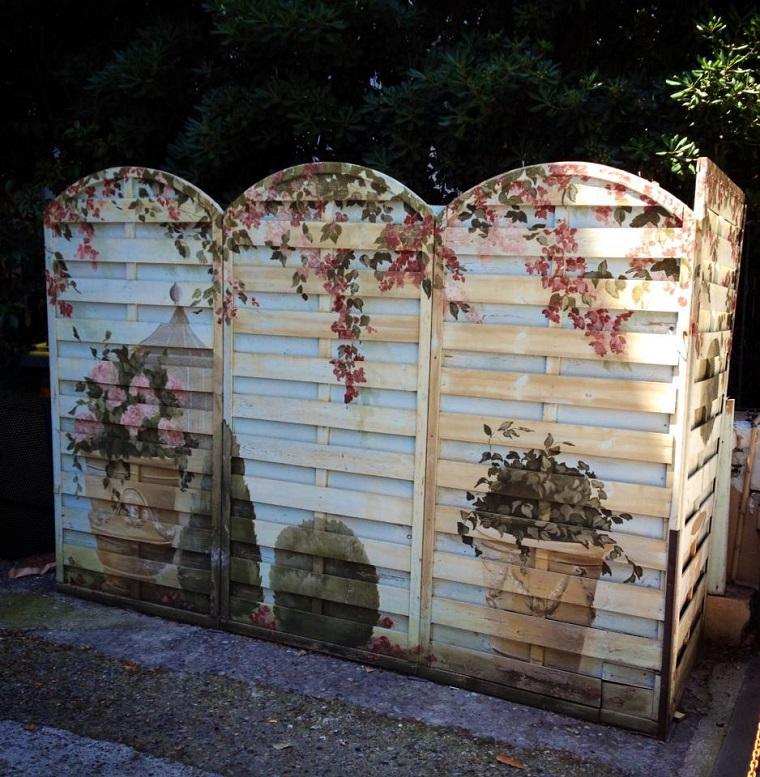 arredare con i bancali-separe-giardino