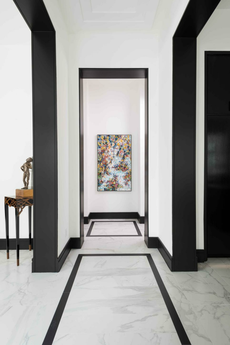 arredare corridoio sobrio-elegante-raffinato