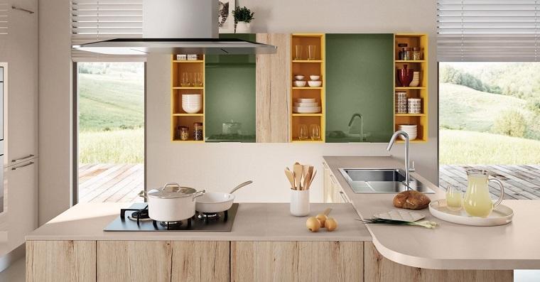 Cucine con penisola belle funzionali e soprattutto di design - Mensole cucina country ...