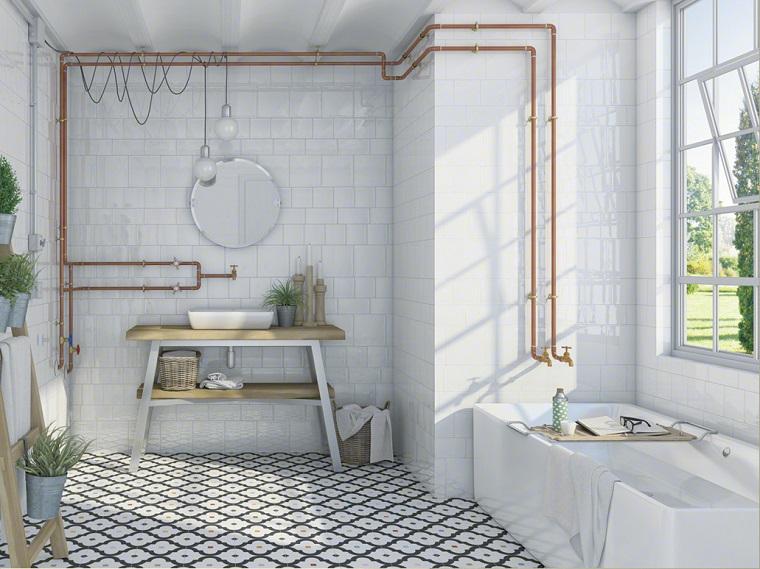 Bagni vintage 20 idee di arredamento per creare un angolo for Accessori bagno vintage