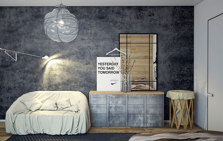 camera-da-letto-arredo-stile-industriale