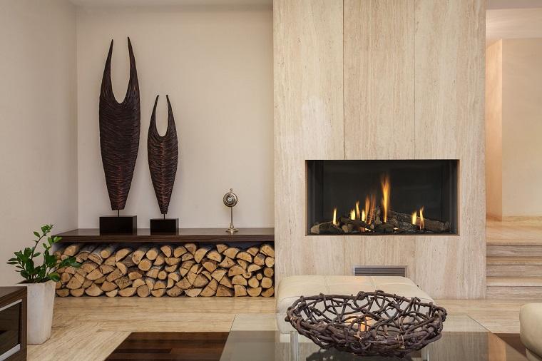 camino moderno-idea-zona-stoccaggio-legna