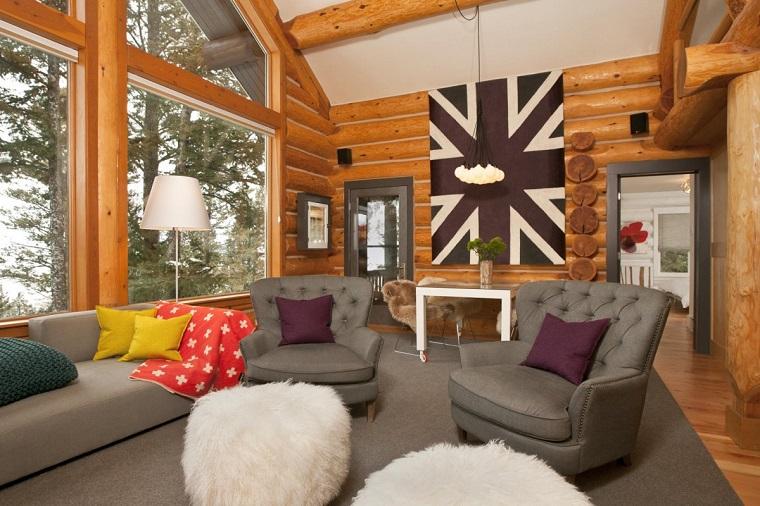 casa montagna-salotto-poltrone-design