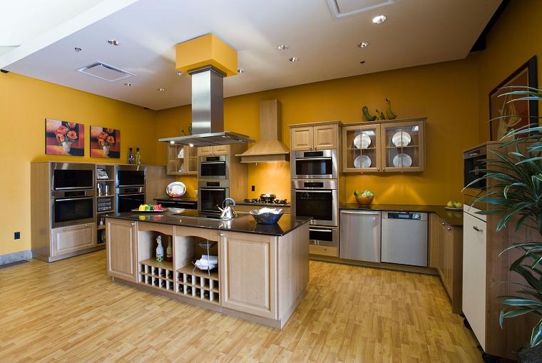 Pareti Cucina Giallo : Colore parete cucina ecco come scegliere quello più