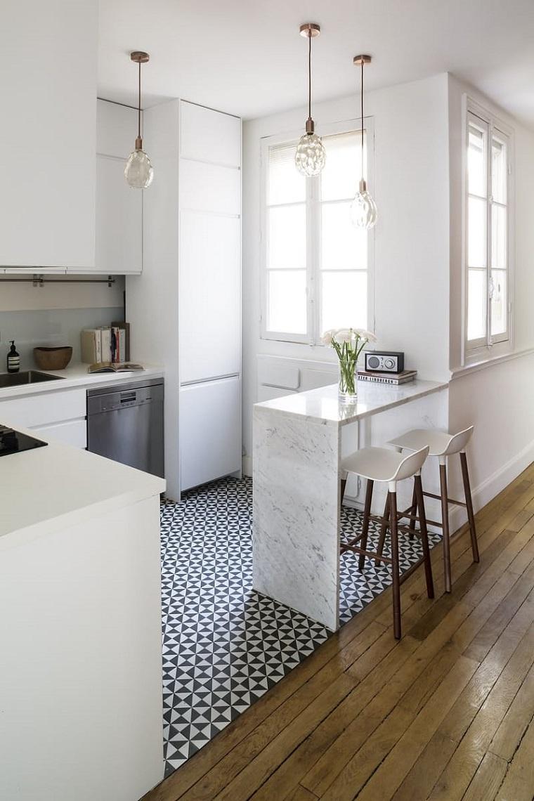come arredare casa-cucina-dimensioni-piccole