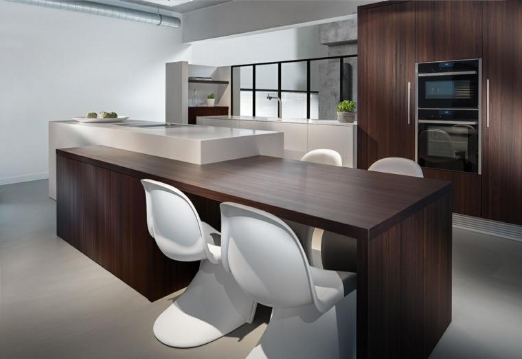 come arredare casa-cucina-legno-isola