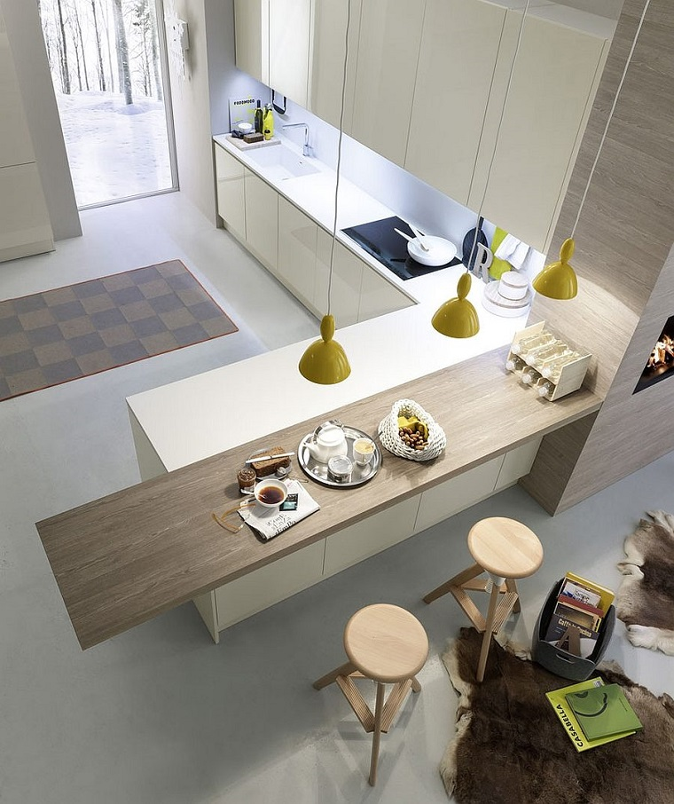 come arredare casa-cucina-originale-top-legno
