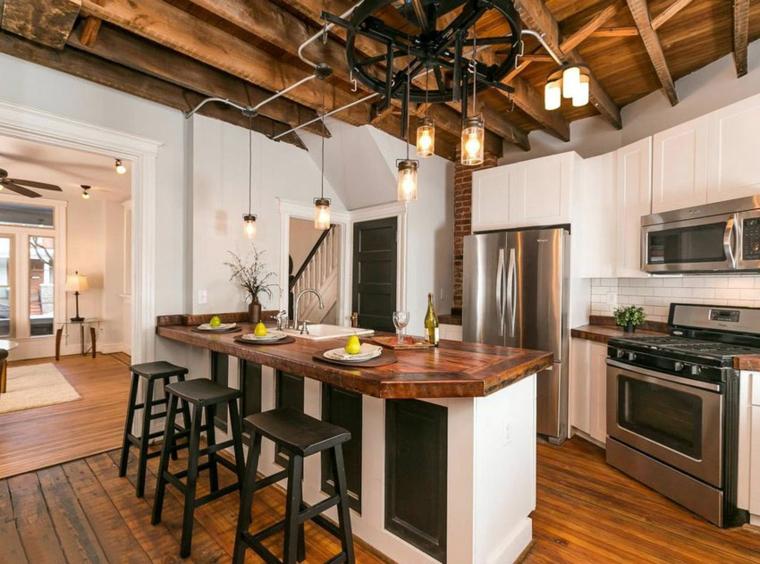 come arredare casa-cucina-stile-rustico